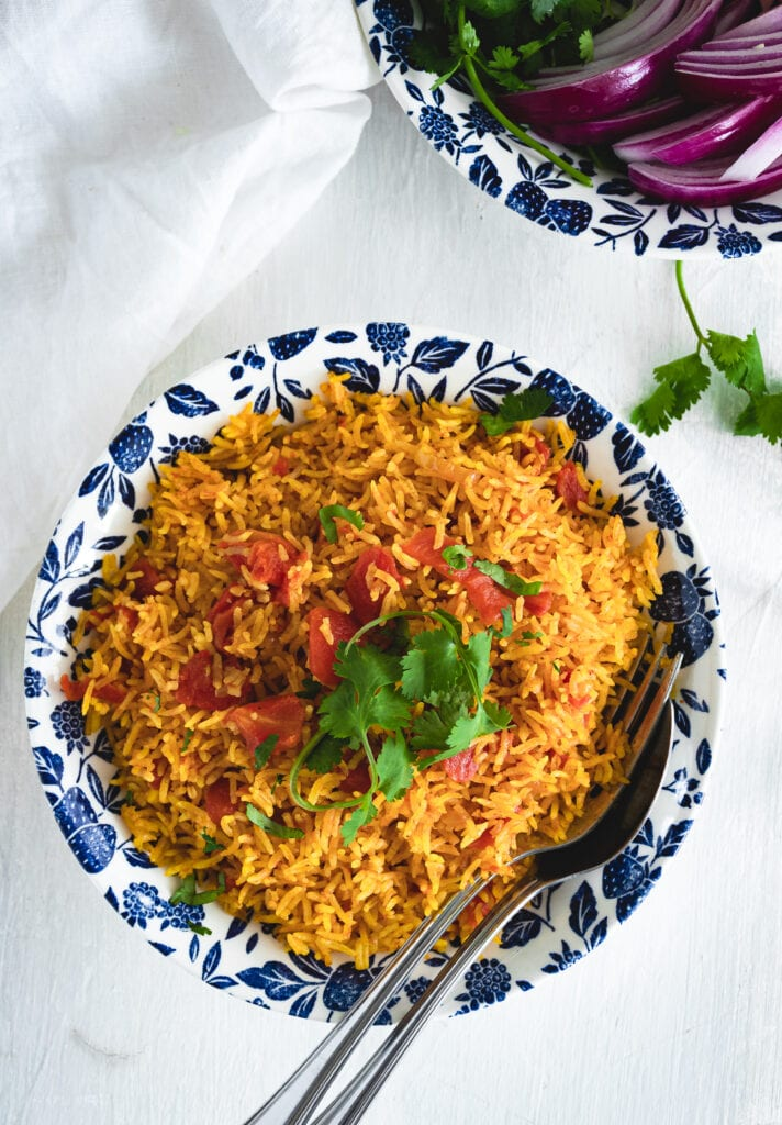 Vegetarian Middle Eastern Instant Pot Tomato Rice