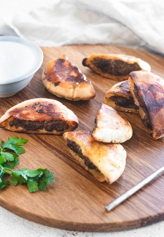 Arayes stuffed pita bread