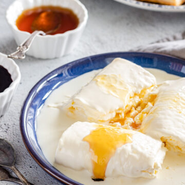 geymar or kaymak served with honey