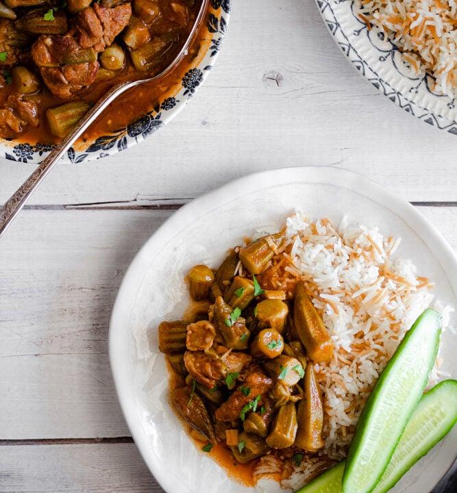 okra stew (bamia)