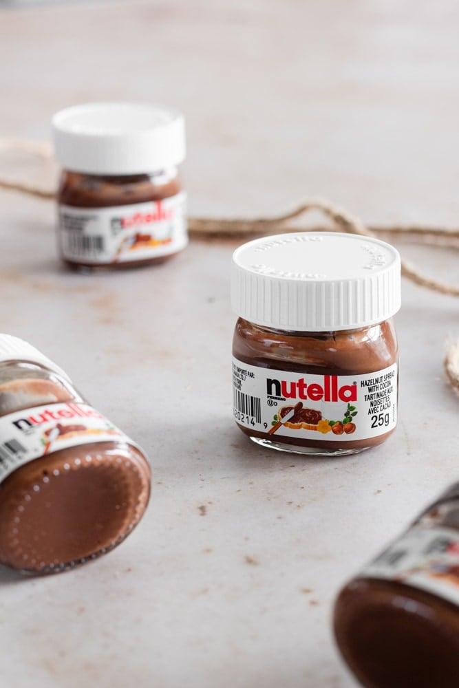 4 Mini Nutella Jars