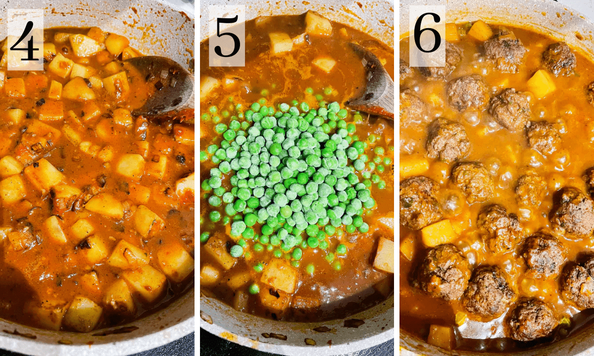 process for making a middle eastern meatball stew