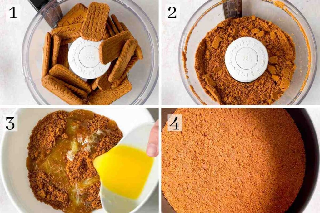 Process for making biscoff cheesecake crust