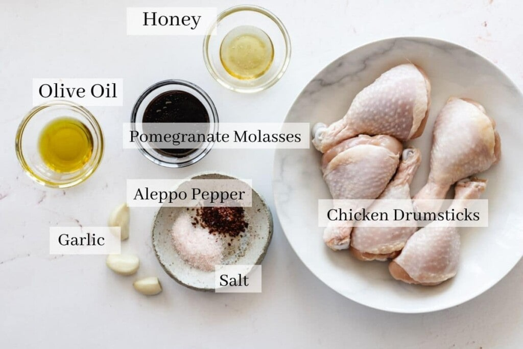 Ingredients for pomegranate molasses